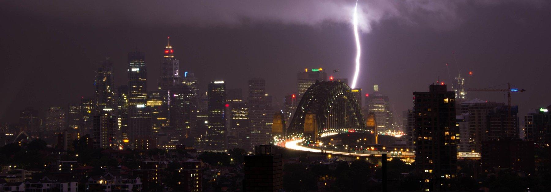 storm in Sydney Harbour
